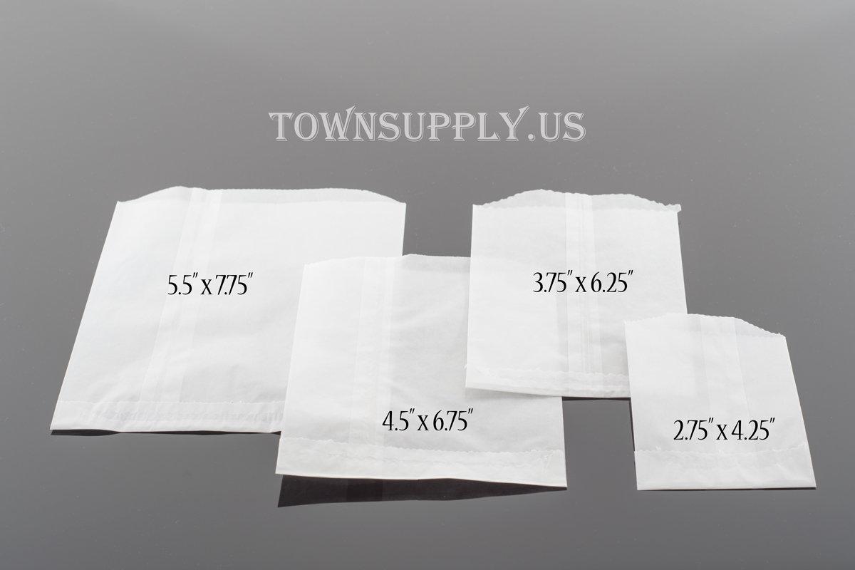 50 - flat glassine bags, 4.5\