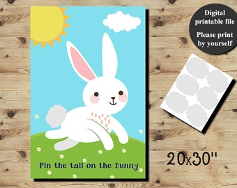 50 off sale pin the tail on the bunny game printable etsy pin the tail on the bunny easter game easter childrens game easter bunny game bunny birthday games diy game printable digital file solutioingenieria Images