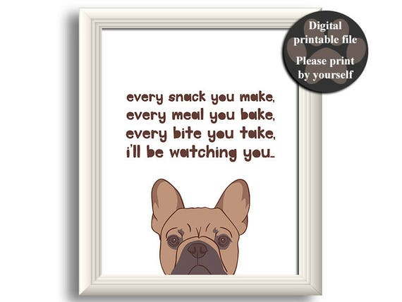French Bulldog art print 8*10\