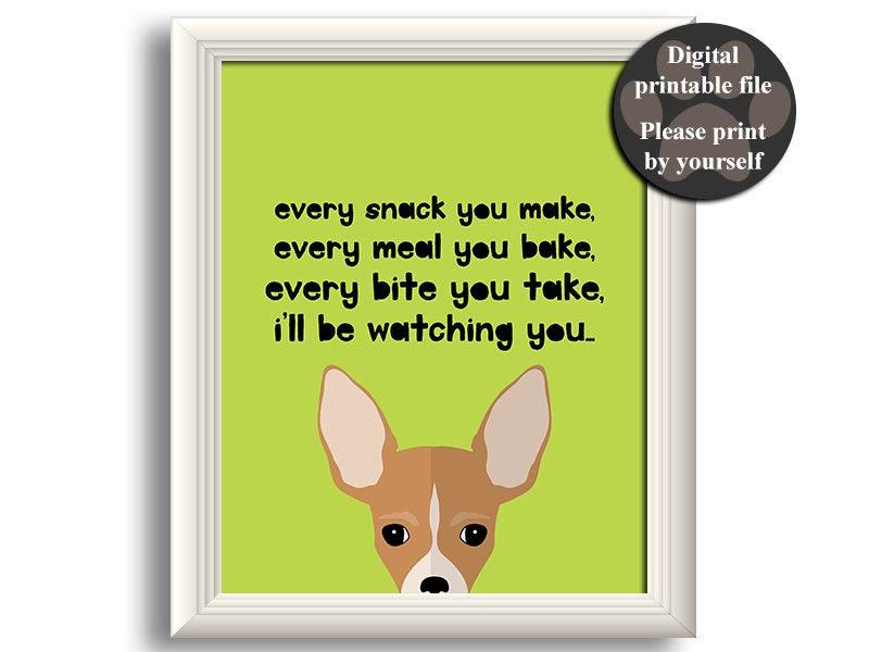 Chihuahua Hund Druck Kunst druckbare Hund Zitat Geschenk für | Etsy