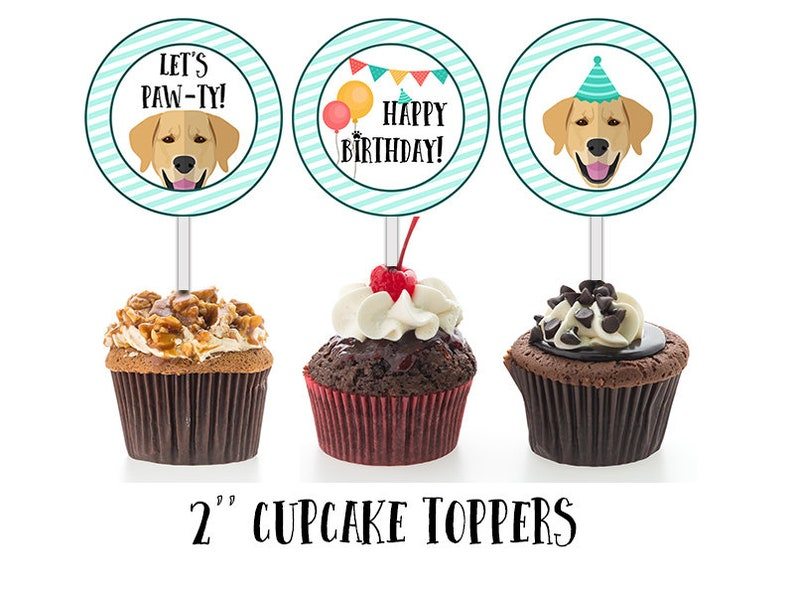 Labrador Cupcake Toppers Puppy Cake Decorations Cupcake Etsy