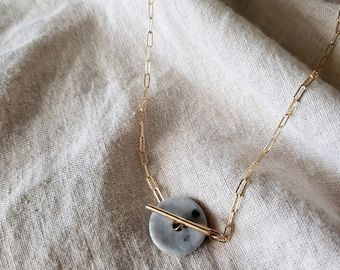 toggle necklace, loop through, lariat necklace, marble, stone, gift, unique, pendant necklace, gold toggle, charm necklace, bridesmaids