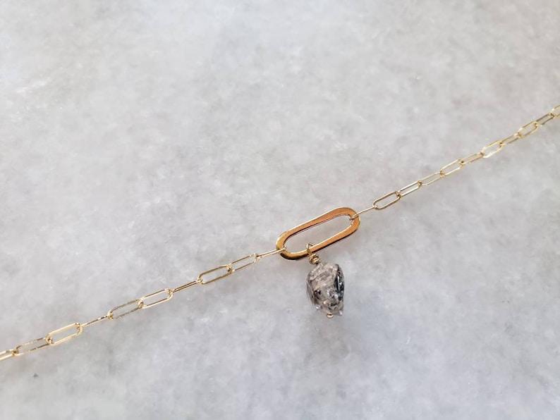 graduation gold filled chain dainty bracelet herkimer diamond gold bangle charm bracelet gift pendant bridesmaids long cable chain