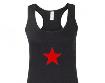 37905081be10c3 Red Star Women s Racerback Tank Top