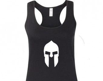 c63a6bea66be6 Spartan Warrior Helmet Greek Women s Racerback Tank Top