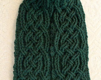 Crochet Scarf Pattern, Banff Bulky Cable Braided Scarf Crochet Pattern for Women and Men