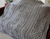 Crochet Blanket Pattern Large Irish Lullaby Cable Braided Blanket Crochet Pattern Baby Blanket Throw Afghan Bulky Chunky Yarn Nursery Celtic