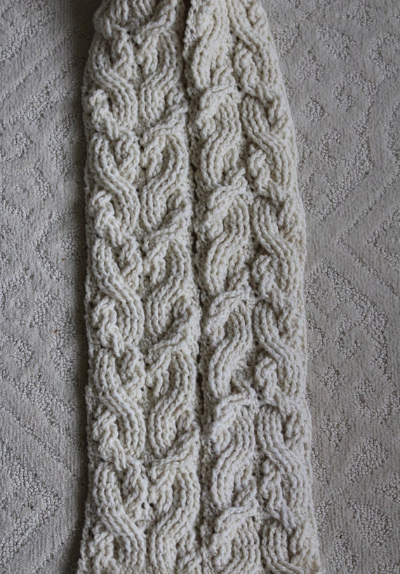 Crochet Scarf Pattern Rosslyn Cable Braided Scarf Crochet Etsy