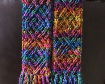 Crochet Scarf Pattern, Celtic Diamonds Braided Cable Scarf Crochet Pattern for Men and Women PDF download Celtic Crochet Pattern Clothing