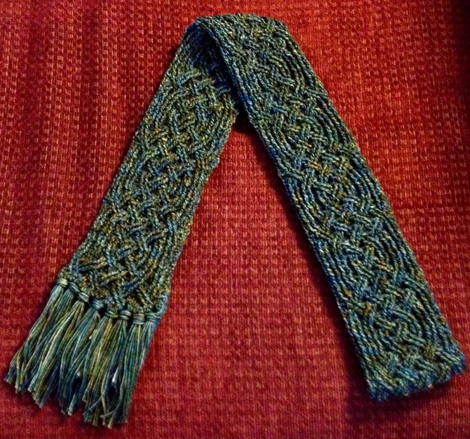 Crochet Scarf Pattern Aberdeen Castle Braided Cable Scarf Etsy