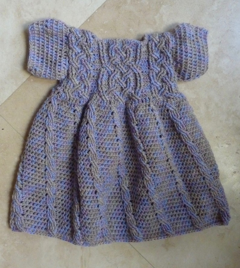 4da527ba9fa8 Rapunzel Braided Cable Baby Dress Crochet Pattern for Girls