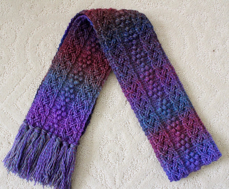 Crochet Scarf Pattern Pebble Cove Braided Cable Scarf Crochet image 0