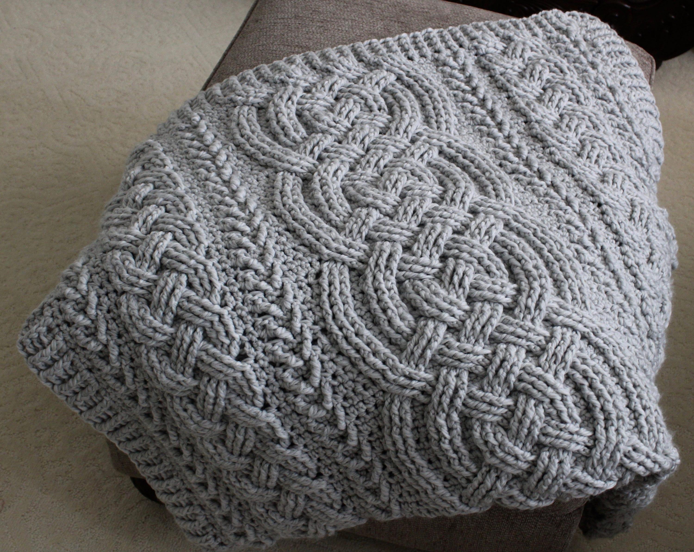 Crochet Blanket Pattern Irish Lullaby Cable Braided Blanket Etsy