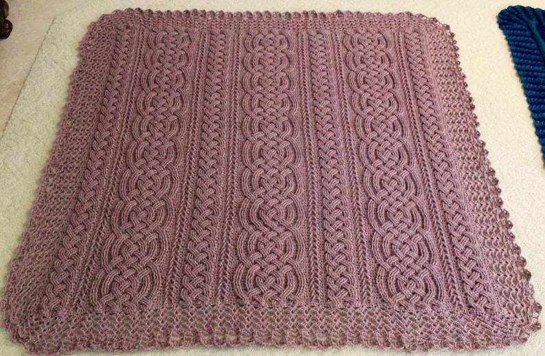 f1ac76e7b4 Crochet Blanket Pattern Aberdeen Braided Cable Blanket Afghan