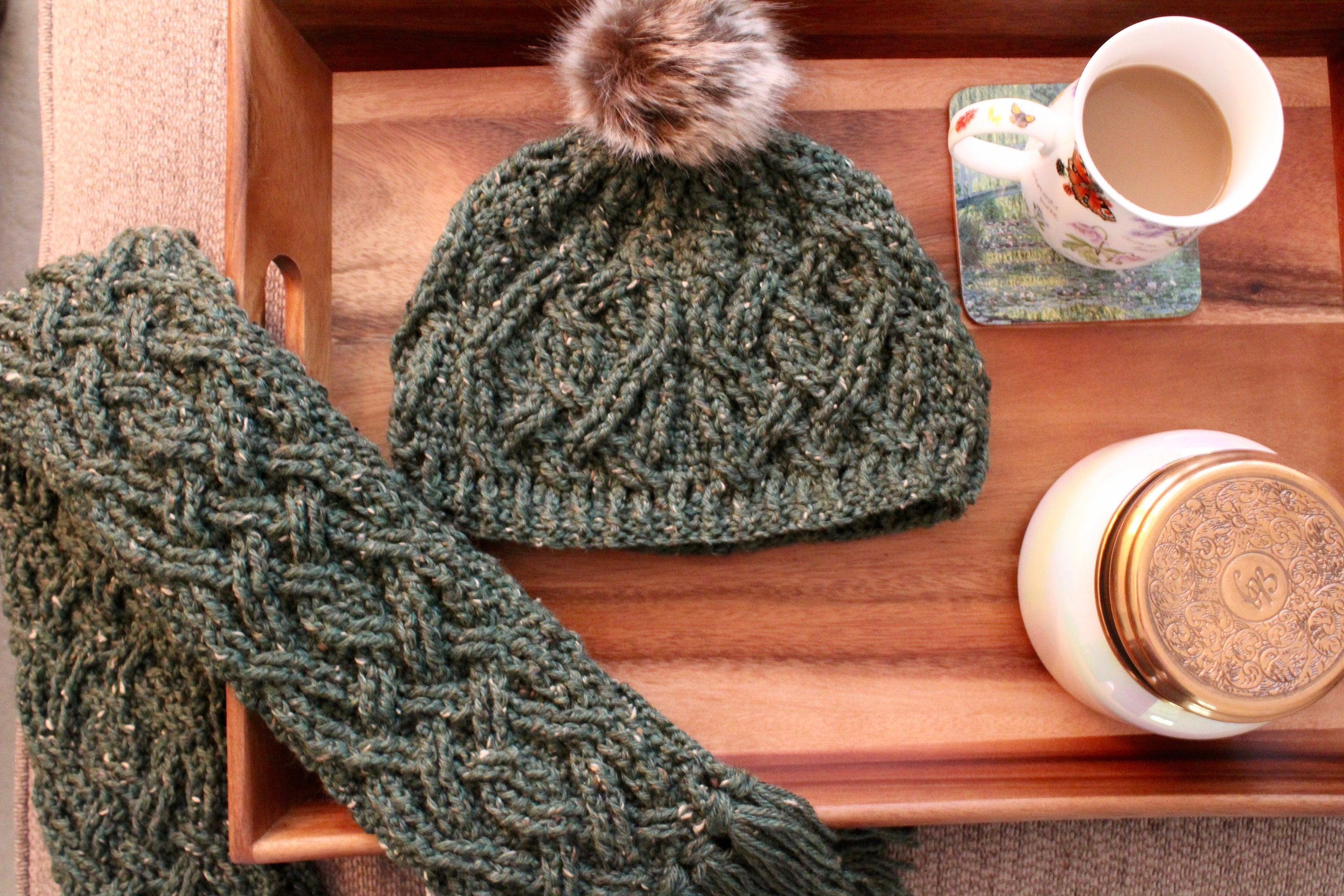 Crochet Hat Pattern Evergreen Hat Cable Braided Crochet Etsy