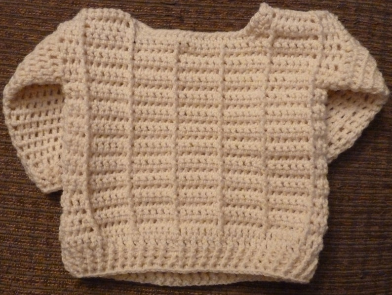 a172add5fbed Aran Braided Cable Crochet Baby Sweater Pattern for boys and