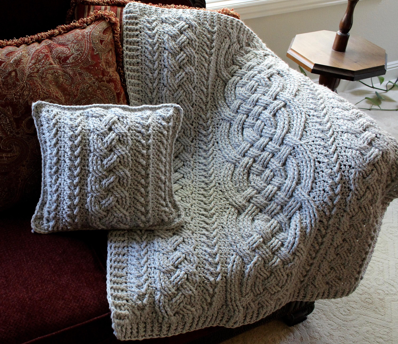 Crochet Blanket Pattern Irish Lullaby Cable Braided Blanket Crochet Pattern  Baby Blanket Throw Afghan Bulky Chunky Yarn Nursery Aran Celtic