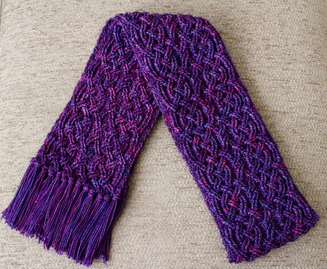 Crochet Scarf Pattern St Chapelle Braided Cable Scarf Etsy