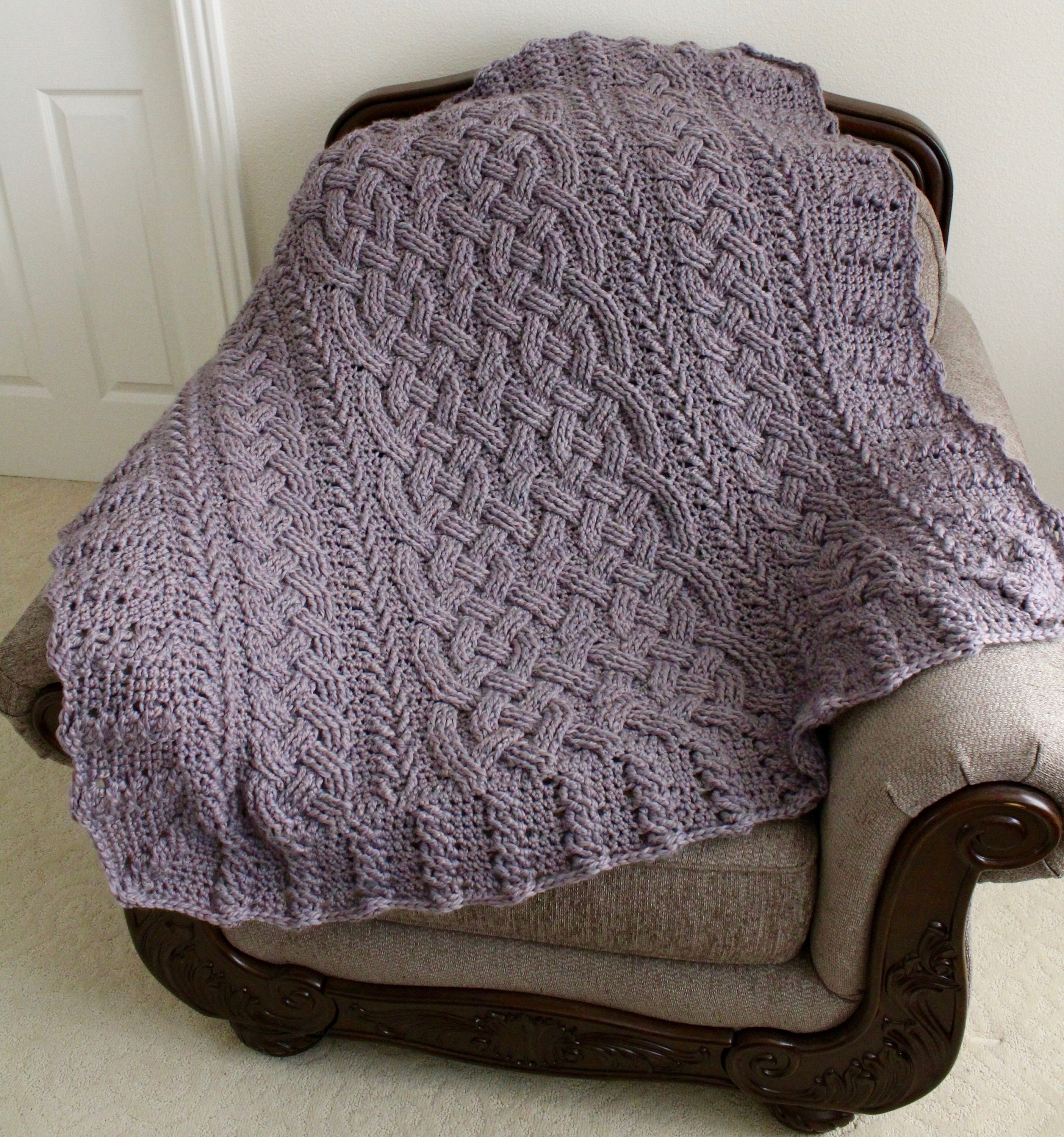 Crochet Blanket Pattern Marseille Cable Throw Pattern Etsy