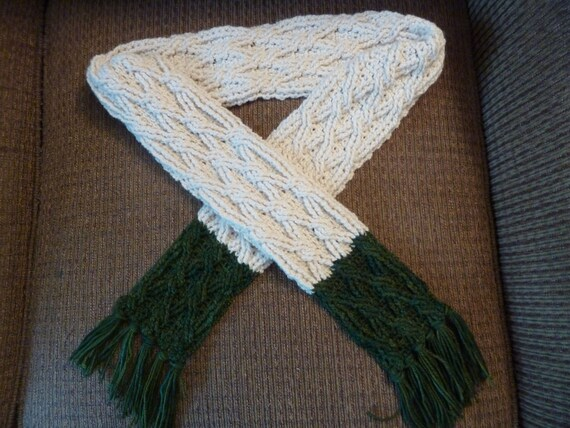 Crochet Scarf Pattern Color Block Cable Scarf Crochet Pattern Etsy