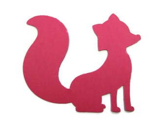 Paper Fox Cut Outs Set of 20