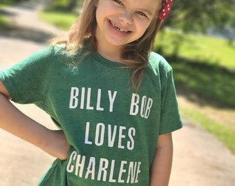Billy Bob Loves Charlene - Youth  Shirt - Unisex Fit