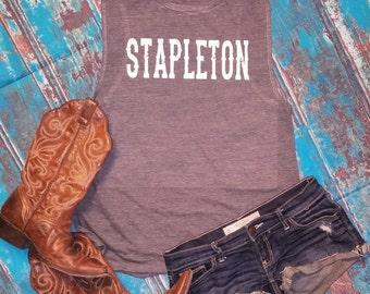 Stapleton - Flowy Scoop Muscle Shirt