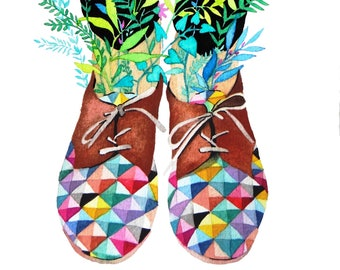 Illustration: Spring in my Print shoes