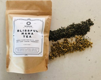 Blissful Mama Tea: Herbal Blend for Peace, Calm and Sleep During Pregnancy