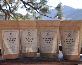 2 Month Supply of Fertility Tea: A Tea for Each Phase of Your Cycle