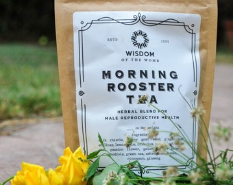 Morning Rooster Herbal Tea Blend for Male Reproductive Health