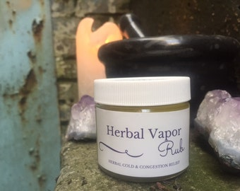 Herbal Vapor Rub/ Herbal Cold & Congestion Relief