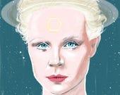 Saturn/ Gwendoline Christie (signed prints) © Iván García.