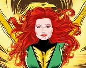 Rocío Jurado as Phoenix / Jean Grey (signed prints) © Iván García.
