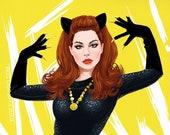 Lana del Rey as Julie Newmar's Catwoman (signed prints) © Iván García.