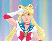 Britney Spears as Sailor Moon (signed prints) © Iván García.