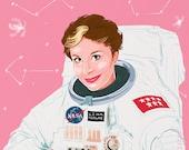 Lina Morgan en el espacio (signed prints) © Iván García.