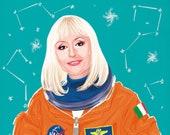 Raffaella Carrà en el espacio (signed prints) © Iván García.