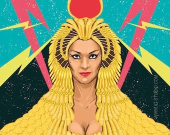 Lola Flores, Faraona interdimensional (signed prints) © Iván García.