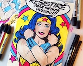 Wonder Woman - Resistiré © Iván García  (Limited edition prints, signed and numbered)