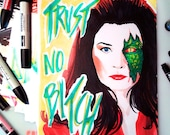 Trust no bitch N8 - Jane Badler as Diana © Iván García  (Limited edition prints, signed and numbered)