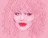 Courtney Love Hybris (signed prints) © Iván García.