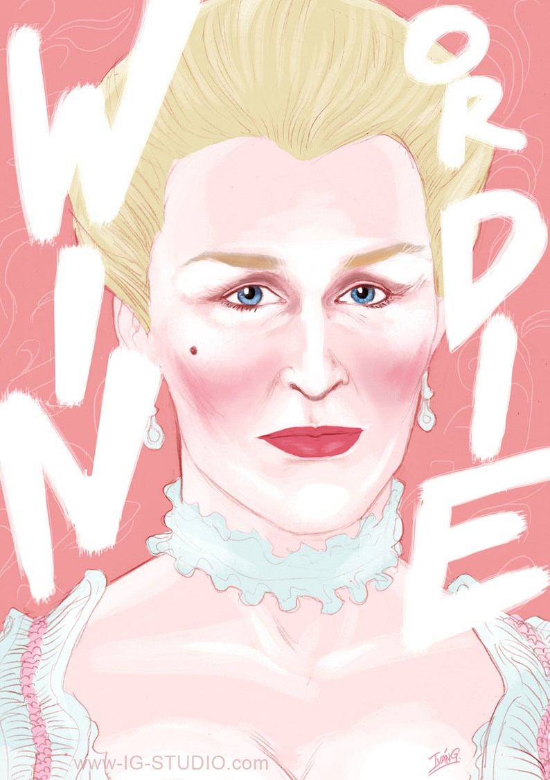 Glenn Close as Marquise de Merteuil  limited edition prints © image 0