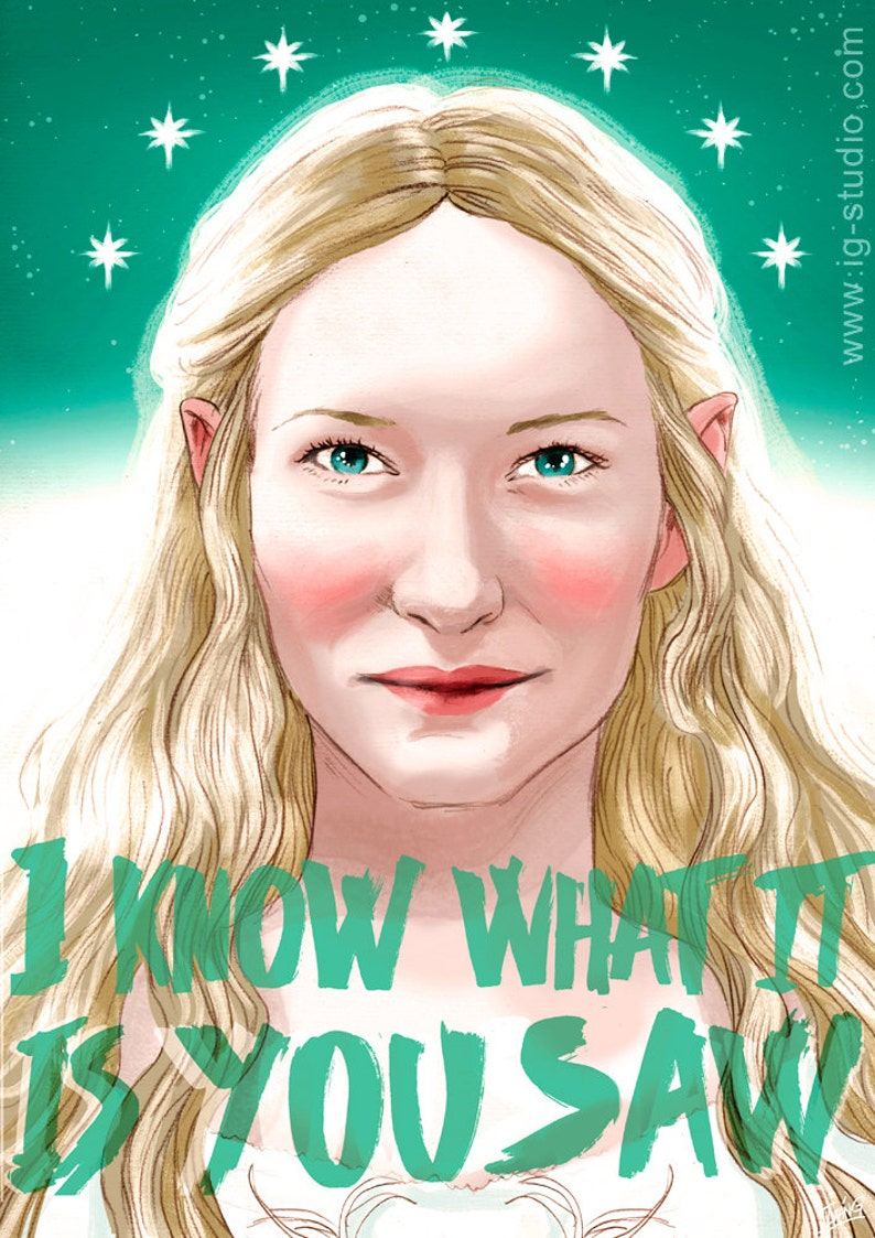 Cate Blanchett as Galadriel signe prints © Iván García image 0