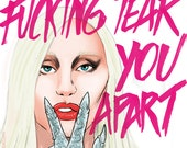 Lady Gaga as The Countess , AHS Hotel (signed prints) © Iván García