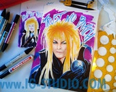 Trust no bitch N4 - David Bowie as Jareth © Iván García  (Limited edition prints, signed and numbered)