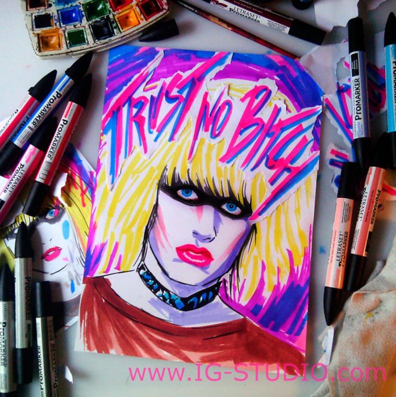 Trust no bitch N10  Replicant Pris © Iván García  Limited image 0