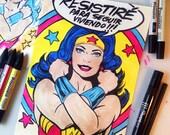 Wonder Woman - Resistiré © Iván García  (Limited edition prints, signed and numbered)