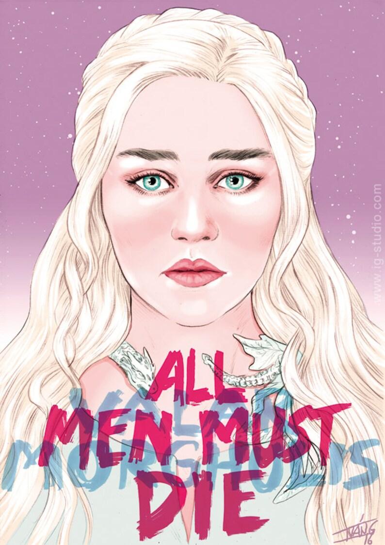 Daenerys Targaryen says signed prints © Iván García image 0