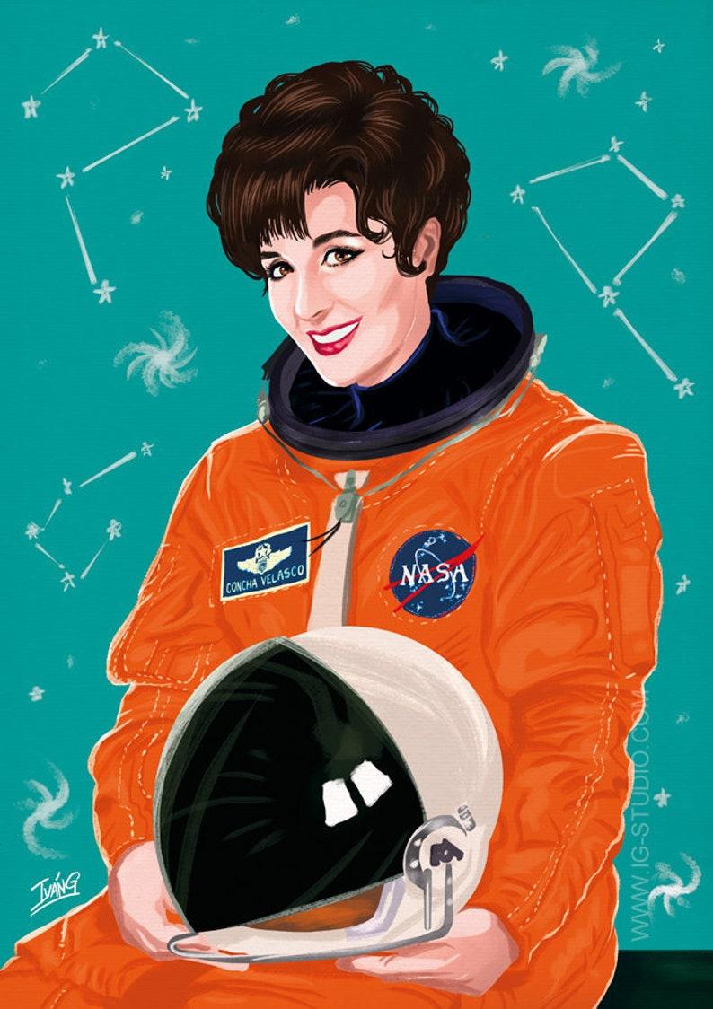 Concha Velasco en el espacio signed prints © Iván García. image 1